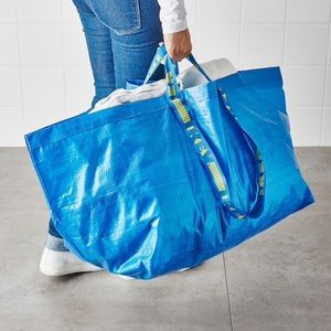 5 Ikea FRAKTA carrying storage sturdy plastic bags